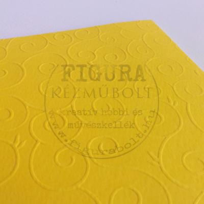 A4 dombormintás karton  csigavonal - sárga