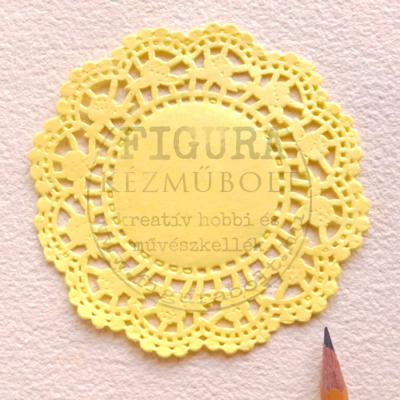 Tortacsipke átmérő 10cm - sárga