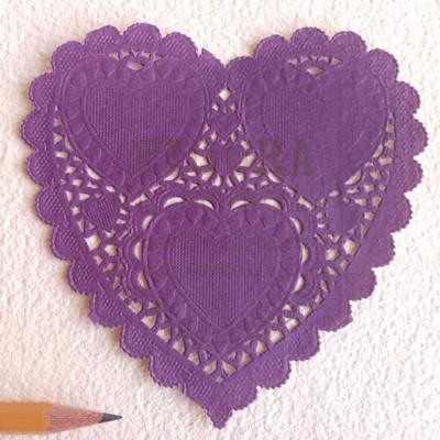 Tortacsipke szív 10*10cm lila