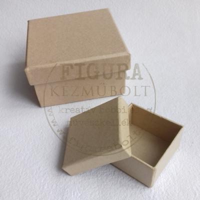 Papírmasé dobozka négyzetes 50*50mm*27mm magas