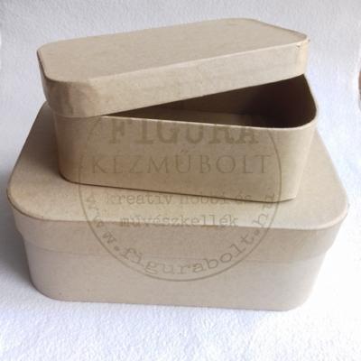 Papírmasé doboz tégla kerekített sarkokkal 80*120mm*40mm magas