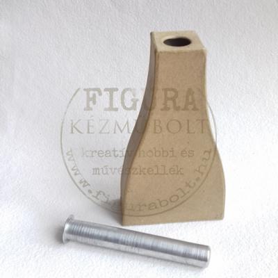 Papírmasé váza fém víztartállyal 30*75*125mm