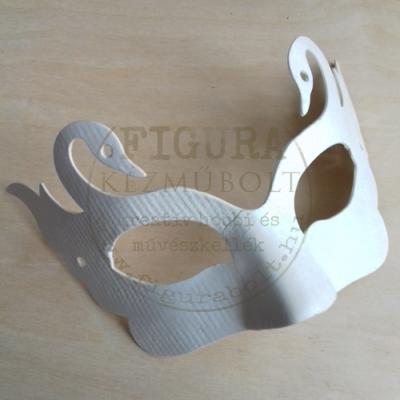Papír álarc - szemüveg hattyús, fehér 130*210mm