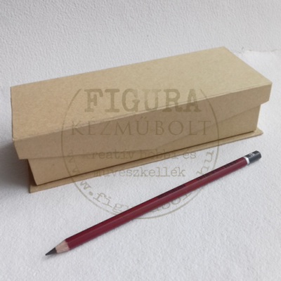 Papírmasé tolltartó ráhajló mágneses fedéllel 80*200*50mm