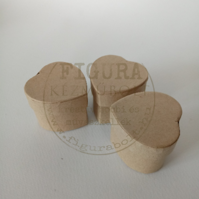 Papírmasé dobozka szív 48mm*38mm magas