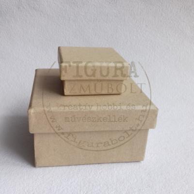 Papírmasé doboz négyzetes 90*90*50mm