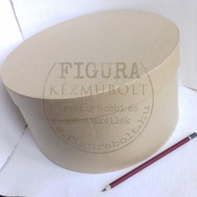 Papírmasé kalapdoboz 26*14cm