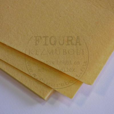 Filc anyag (dekorfilc) A4/1mm - PASZTELLSÁRGA