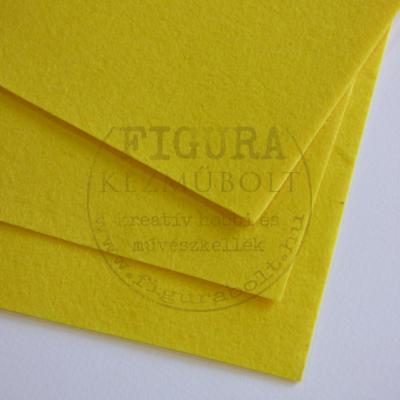 Filc anyag (dekorfilc) A4/1mm - CITROMSÁRGA