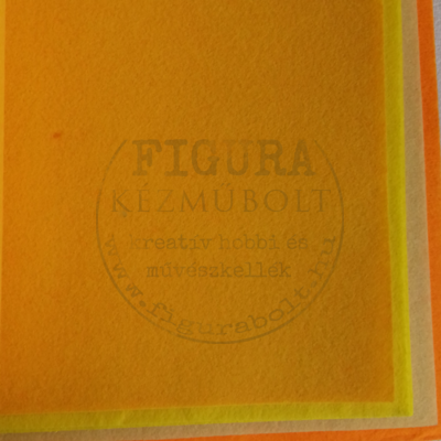 Filc anyag (dekorfilc) A4/1mm - NAPSÁRGA