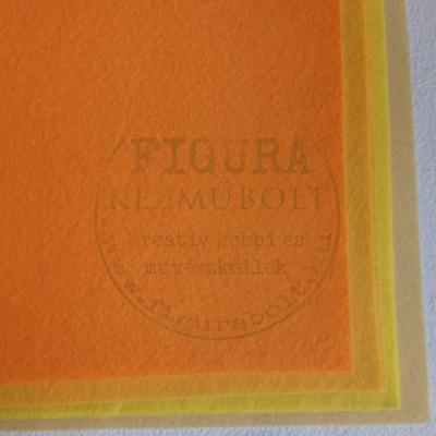 Filc anyag (dekorfilc) A4/1mm - NARANCS