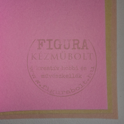 Filc anyag (dekorfilc) A4/1mm - RÓZSASZÍN