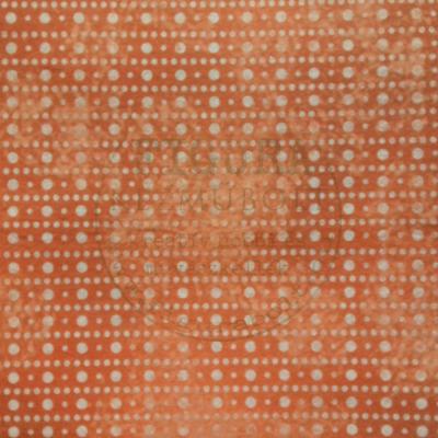 Mintás Filc anyag (dekorfilc) 30*30cm/1mm - NARANCS / FEHÉR PÖTTYÖS
