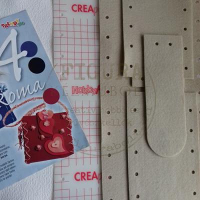 Kreatív egységcsomag: Filc válltáska 16*20cm merevítő fóliával - DRAPP