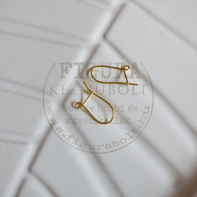 Fülbevaló alap akasztós, arany színű 2db/cs