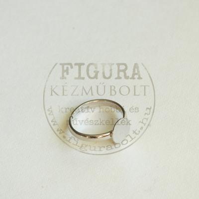 Gyermek gyűrű alap, ezüst színű, állítható 3mm széles szár, 7mm tárcsa