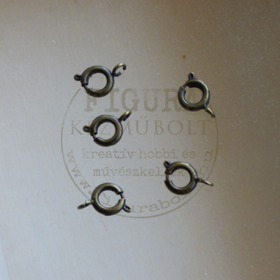 Rugós kör kapocs 7mm bronz színű 5db/cs.