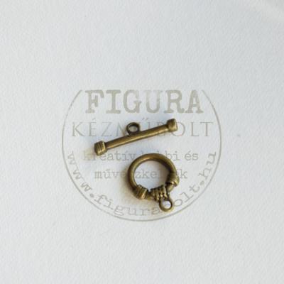 """""""T"""" kapocs 12mm-es karika, bronz színű"""