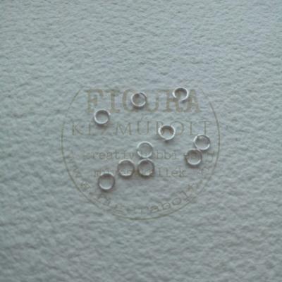 Szerelőkarika, ékszerkarika 5mm ezüst színű 10db/cs.