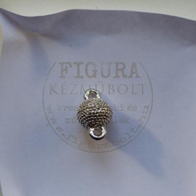 Mágneskapocs 8mm ezüst színű, dombormintás