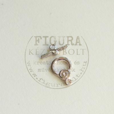 """""""T"""" kapocs csigás 14mm ezüst színű"""