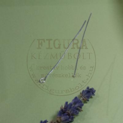 Szerelőpálca talpas 40mm ezüst színű 100db/cs.