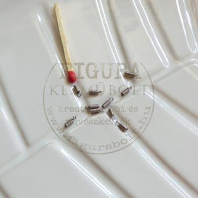 Bőrvég (szálvég) szemes spirál 5mm*1mm belső, nikkel színű 10db/cs.