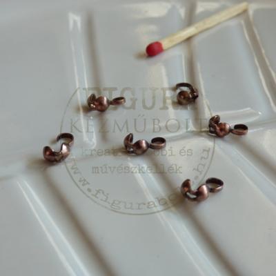 Csomórejtő (csomóbújtató) 4mm gömb vörösréz színű 6db/cs.