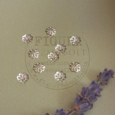 Gyöngykupak tárcsa 5mm ezüst színű 10db/cs