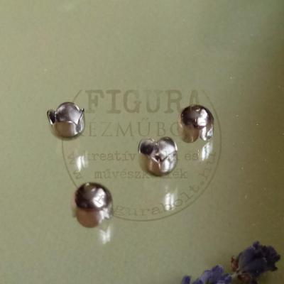 Gyöngykupak harang 4 szirmú 6/5mm nikkel színű 4db/cs