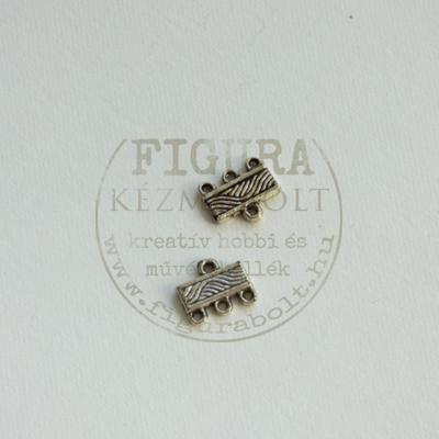 Láncvég 3 soros nikkel színű 12mm széles 2db/cs.