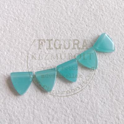 Háromszög alakú gyöngy 12mm-es 5db - VILÁGOSKÉK