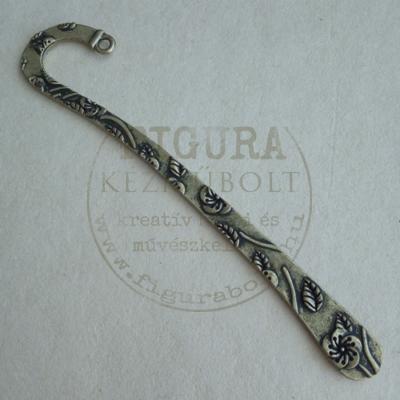 Fém könyvjelző alap 120mm leveles bronz