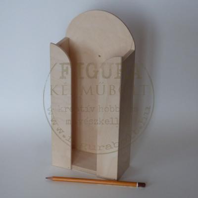 Fa papírzsebkendő tartó 100 db-os 28,5*12,5*6cm