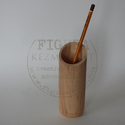 Fa ceruzatartó hengeres 14,5*5