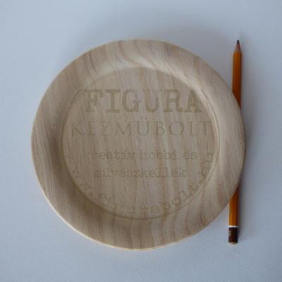 Fa tányér 18cm