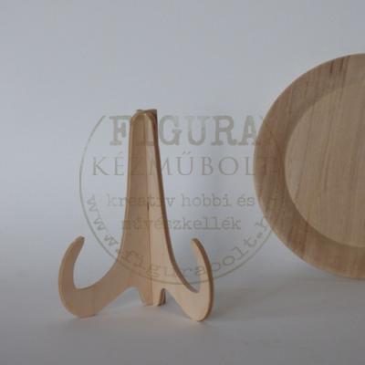 Fa tányértartó talp 12cm