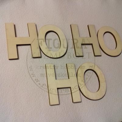 """Fa felirat 60*80mm*6betű: """"HO HO HO"""""""