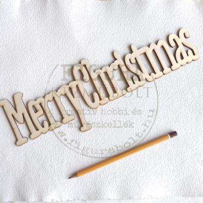 "Fa felirat 100*306mm: ""Merry Christmas"""