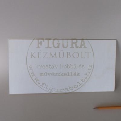 Fa alap, tábla négyszög 16*32cm*5mm vastag, négy sarkán lyukkal (A fotón ez nem látszik)