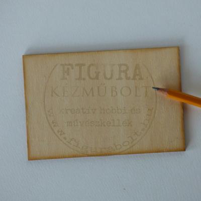 Fa alap, tábla négyszög 9*13cm