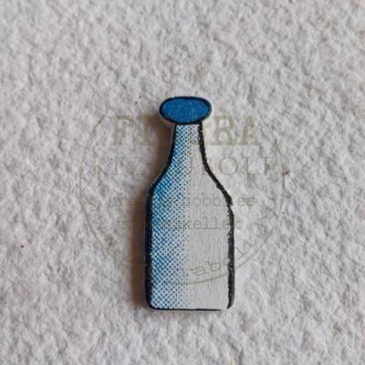 Fa tejesüveg 10*24mm - KÉK-FEHÉR