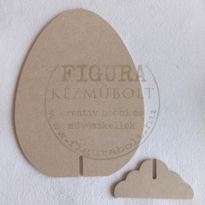 MDF tojás támasztóval 20cm
