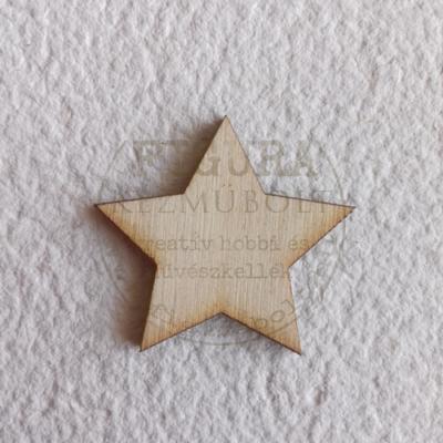 Fa csillag 5 ágú natúr 30mm 5db/cs