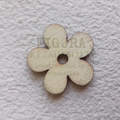 Fa virág 5 teljes szirmú középen lyukas 30mm
