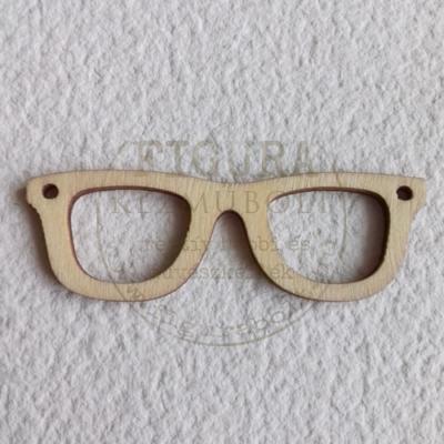 Fa szemüveg keret 18*55mm két lyukkal