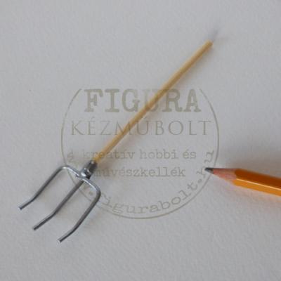 Fa mini kerti szerszám: vasvilla 10cm
