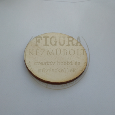 Fa fülbevaló- vagy medál alap kerek furat nélkül 40mm