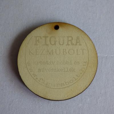 Fa fülbevaló- vagy medál alap kerek furattal 40mm