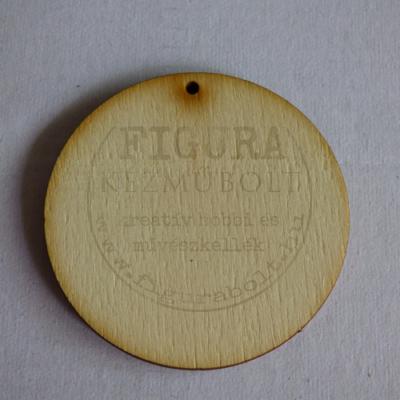 Fa fülbevaló- vagy medál alap kerek lyukas 50mm